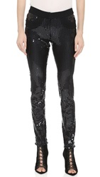 Vera Wang Sequined Skinny Pants
