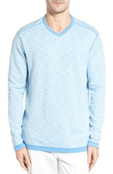 Tommy Bahama Men's Seaglass Reversible T Shirt Download Blue