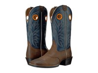 Ariat Sport Outrider Pinecone Federal Blue Cowboy Boots Brown