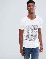 Tom Tailor Crew Neck T Shirt With Photo Print White