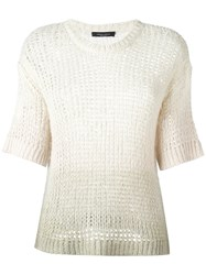 Roberto Collina Cropped Sleeves Jumper Nude Neutrals