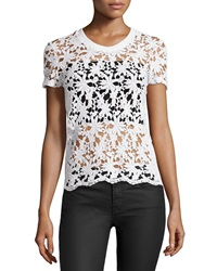 Dex Lace Front Short Sleeve Top Natural