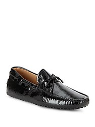 Tod's Laccetto Tie Up Loafers Black