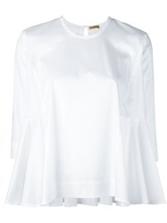 Peter Jensen Flared Hem Blouse White