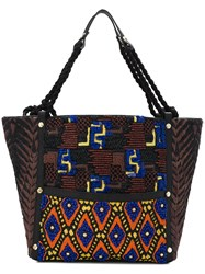 Jamin Puech Beaded Details Tote Multicolour