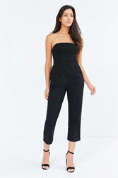 Silence And Noise Strapless Knit Jumpsuit Black