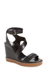 Vince Camuto Women's Ivanta Wedge Black Leather