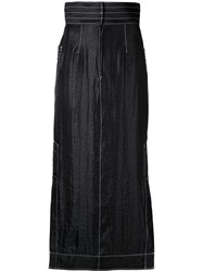 G.V.G.V. Contrast Stitch Maxi Skirt Black