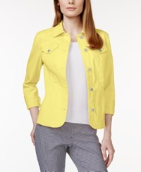 Charter Club Long Sleeve Denim Jacket Only At Macy's Lemon Twist