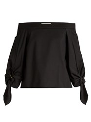 Tibi Agathe Off The Shoulder Top Black