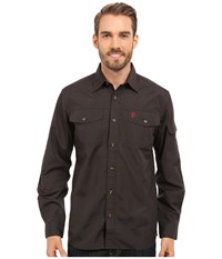 Fjall Raven Sarek Trekking Shirt Dark Grey Men's Clothing Gray
