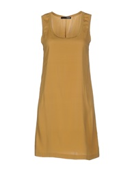 .Tessa Short Dresses Camel