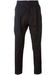 Hope Tapered Classic Fit Trousers Men Cotton 52 Black