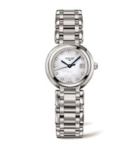 Longines Prima Luna Mother Of Pearl Watch Unisex White