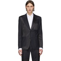 Tiger Of Sweden Black And Navy Wool Javio Blazer