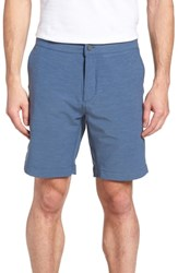 Faherty All Day Flat Front Shorts Navy