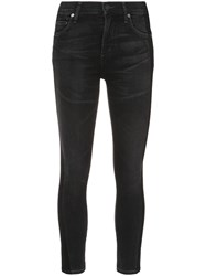 Citizens Of Humanity Skinny Cropped Jeans Cotton Acetate Black
