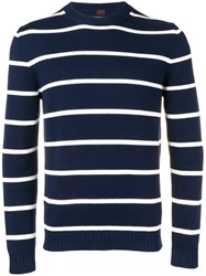 Massimo Piombo Mp Striped Fine Knit Sweater Blue