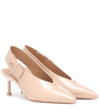 Mercedes Castillo Kinslee Patent Leather Pumps Beige