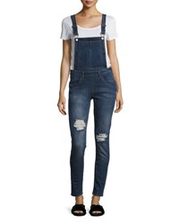 Cheap Monday Side Zip Dungaree Overalls Medium Blue