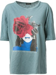 Undercover Front Print T Shirt Blue