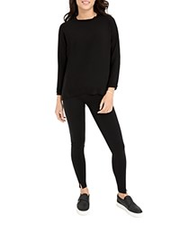 Spanx Everywear Split Hem Leggings Very Black