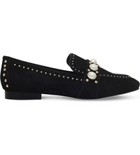 Carvela Leighton Suede Loafers Black