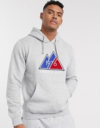 Celio Hoodie In Grey With Mountain Print