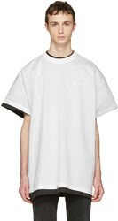 Vetements White Hanes Edition Oversized Double Securite T Shirt