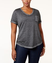 Styleandco. Style Co. Plus Size Burnout T Shirt Only At Macy's Deep Black