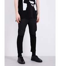 Julius Cropped Slim Fit Jeans Black