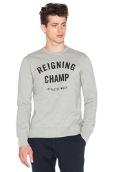 Reigning Champ Gym Crewneck Gray