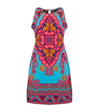 Hale Bob Abstract Floral Dress Female Multi