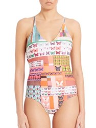 Clover Canyon One Piece Printed Tank Swimsuit Multi
