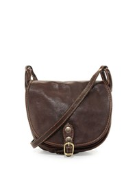 Neiman Marcus Small Buckle Leather Saddle Bag Tmoro
