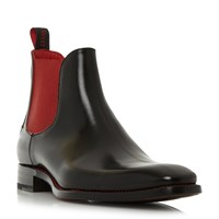 Jeffery West Harrowshow Contrast Gusset Chelsea Boots Black