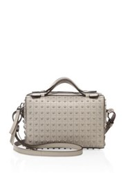 Tod's Diodon Mini Studded Leather Satchel Grey