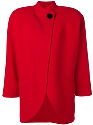 Marc Jacobs Buttoned Oversized Coat Red