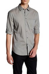 John Varvatos Micro Stripe Long Sleeve Trim Fit Shirt Green