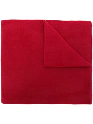 Y 3 Logo Patch Scarf Red