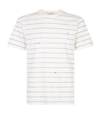 Gieves And Hawkes Rope Print T Shirt White