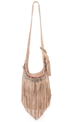 Simone Camille Studded Bucket Bag With Fringe