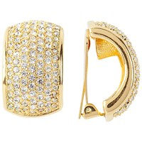 Susan Caplan Vintage 1980S Dior Gold Plated Swarovski Crystals Clip On Earrings Gold Crystal