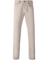Incotex Textured Trousers Nude And Neutrals