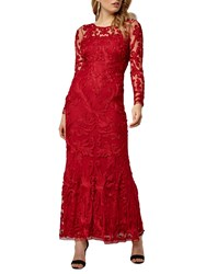 Phase Eight Collection 8 Aubree Tapework Dress Scarlet Red