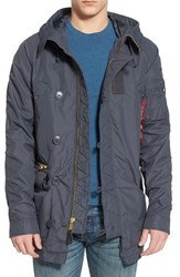 Men's Alpha Industries 'N 3B Ambrose' Water Resistant Military Parka Steel Blue