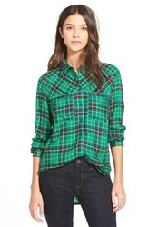 Women's Ace Delivery Plaid Shirt Green Teal