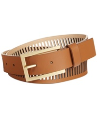Vince Camuto Smooth Perforated Panel Belt Luggage