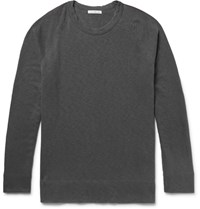 James Perse Loopback Supima Cotton Jersey Sweatshirt Dark Gray