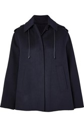 Joseph Carbon Wool Blend Felt Coat Navy